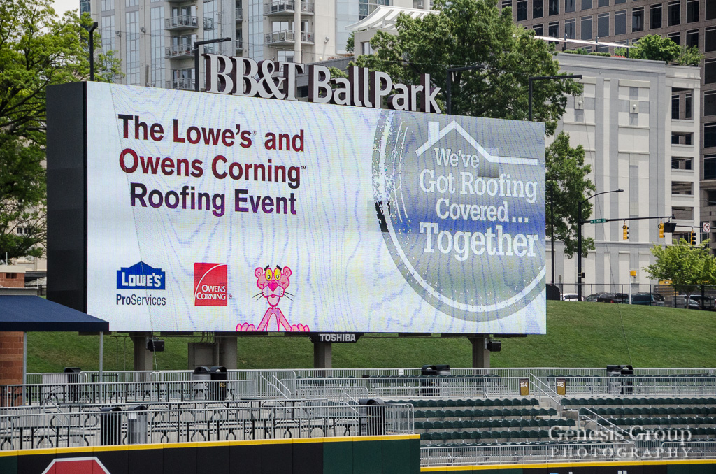 Bb T Ballpark Hosts Lowes Corning Roofing Event
