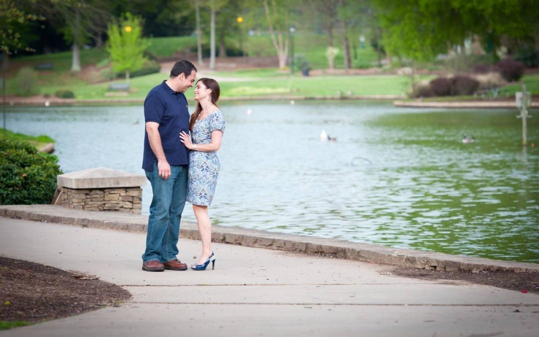 Apel & Hill Engagement Shoot at Freedom Park, Charlotte NC